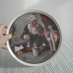 """norman rockwell plate """"the cooking lesson"""" 1982"""